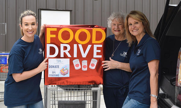 TPI Staffing Local Houston Thanksgiving Donation Food Drive Drop Offs